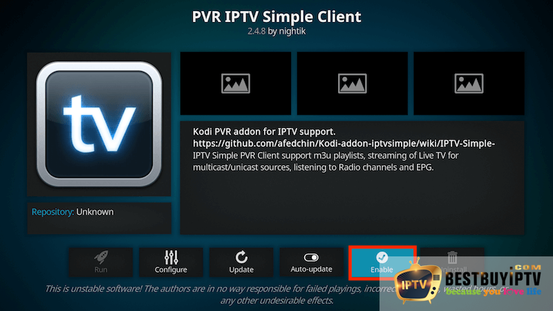 User guide for IPTV with Kodi - PVR IPTV simple client