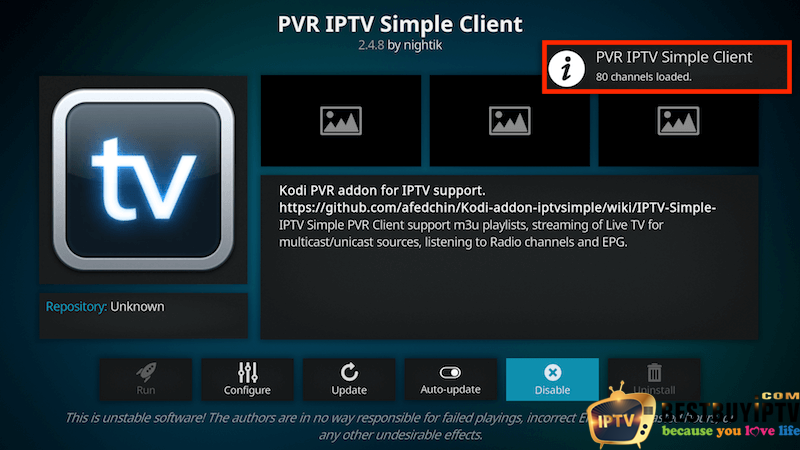 canali-loaded IPTV