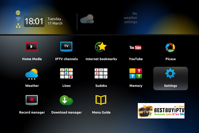 How to setup a IPTV on MAG device with portal - BestbuyIPTV
