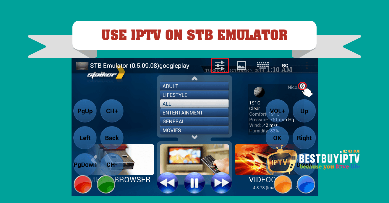 Using Smart STB emulator - IPTV Subcription | BestbuyIPTV